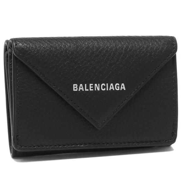 【4時間限定ポイント10倍】バレンシアガ 折財布 レディース BALENCIAGA 391446 DLQ0N 1000 ブラック