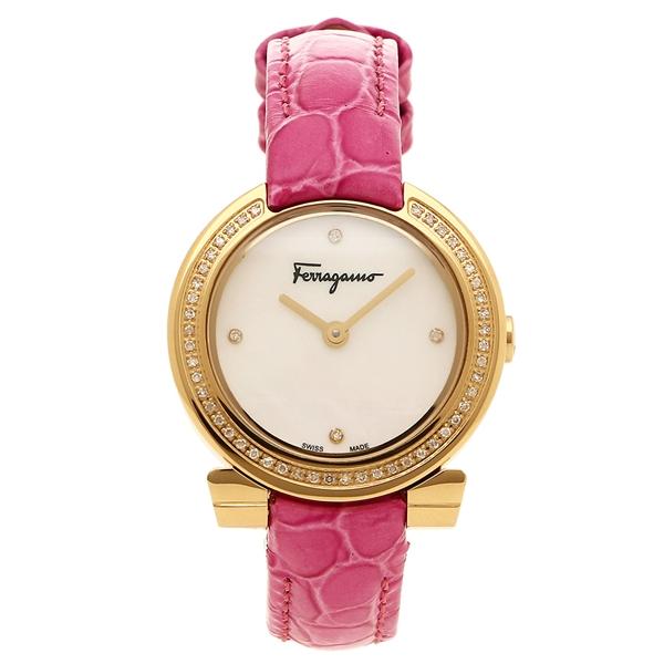 フェラガモ 腕時計 レディース Salvatore Ferragamo FAP050016 ホワイトパール ピンク