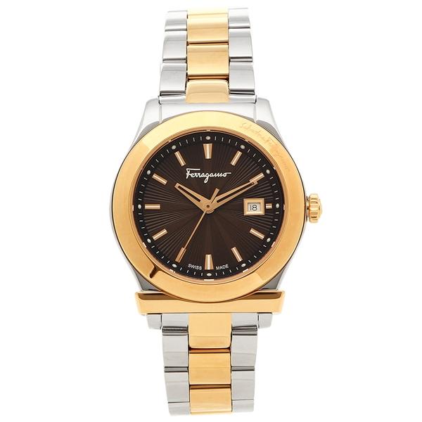 【4時間限定ポイント5倍】フェラガモ 腕時計 レディース Salvatore Ferragamo FF3300016 ブラウン ピンクゴールド