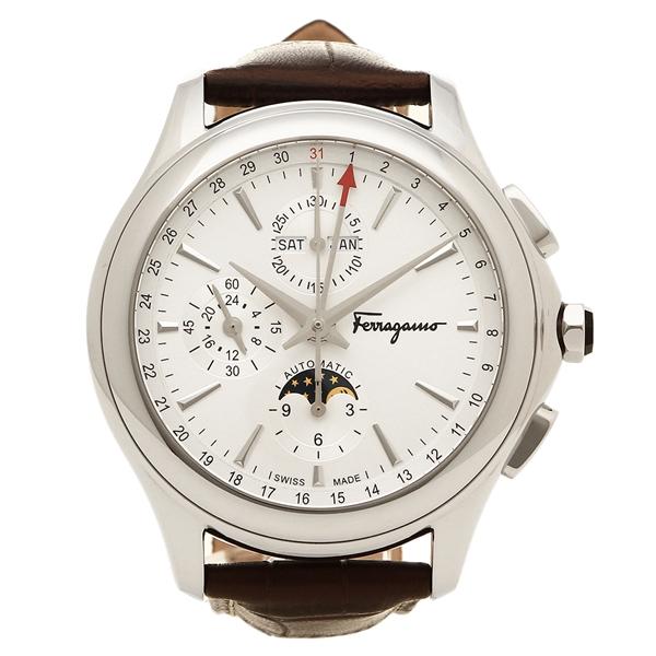 【2時間限定ポイント10倍】フェラガモ 腕時計 メンズ Salvatore Ferragamo FFU010016 ホワイト ブラウン