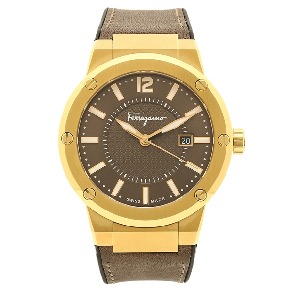 【2時間限定ポイント10倍】フェラガモ 腕時計 メンズ Salvatore Ferragamo FIF060016 ブラウン