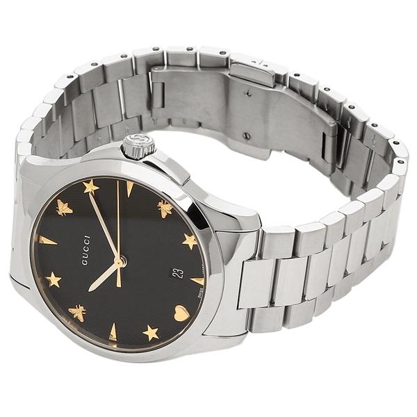 52356a9df35 Brand Shop AXES  Gucci watch Lady s GUCCI YA1264029 black silver ...