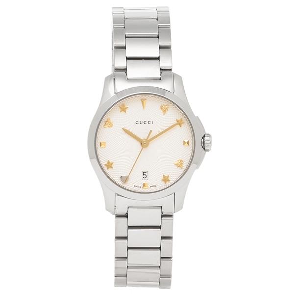【期間限定ポイント10倍】【返品OK】グッチ 腕時計 レディース GUCCI YA126572 シルバー