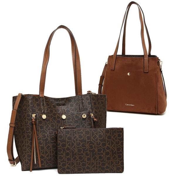 Calvin Klein Tote Bag Shoulder Outlet Lady S H7aaj5wr B8l Dark Brown