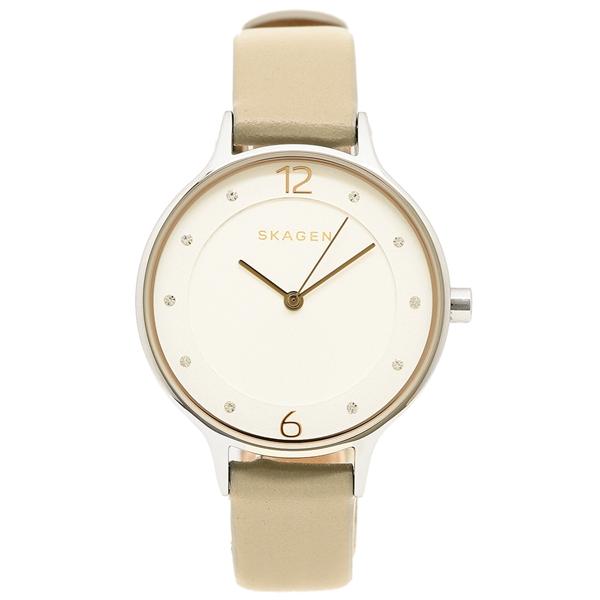 【24時間限定ポイント5倍】スカーゲン 腕時計 レディース SKAGEN SKW2648 ホワイト/ベージュ/シルバー