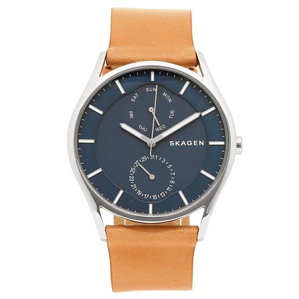 【6時間限定ポイント5倍】スカーゲン 腕時計 メンズ SKAGEN SKW6369 ネイビーブルー/ライトブラウン