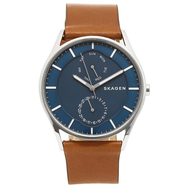 スカーゲン 腕時計 メンズ SKAGEN SKW6449 ブラウン/ブルー/シルバー