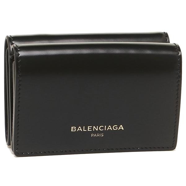【24時間限定ポイント5倍】バレンシアガ 折財布 レディース BALENCIAGA 490621 DRY0N 1000 ブラック