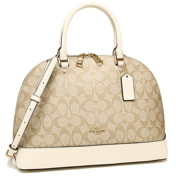 Coach Handbag Shoulder Bag Outlet Lady S F27584 Imdqc Light Khaki White