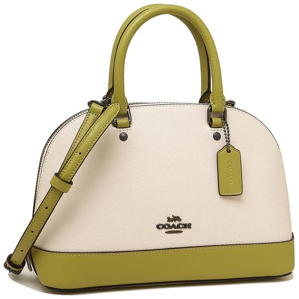 Coach Handbag Shoulder Bag Outlet Lady S F24589 Qbn2o White Yellow