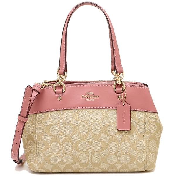 Coach Handbag Shoulder Bag Outlet Lady S F26139 Imnhk Light Khaki Pink