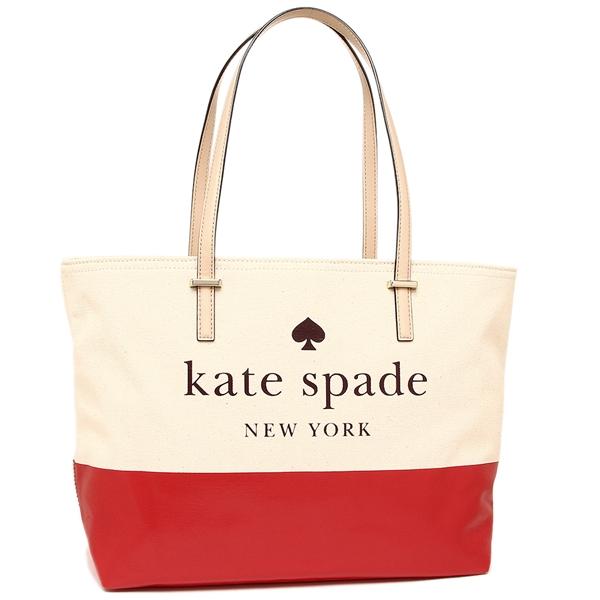ケイトスペード トートバッグ アウトレット レディース KATE SPADE WKRU5470 605 ホワイト レッド
