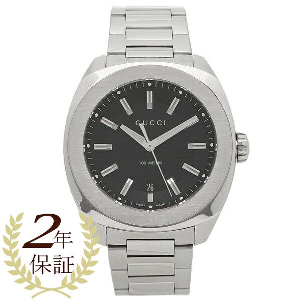 【2時間限定ポイント10倍】グッチ 腕時計 メンズ YA142201 ブラック シルバー GUCCI