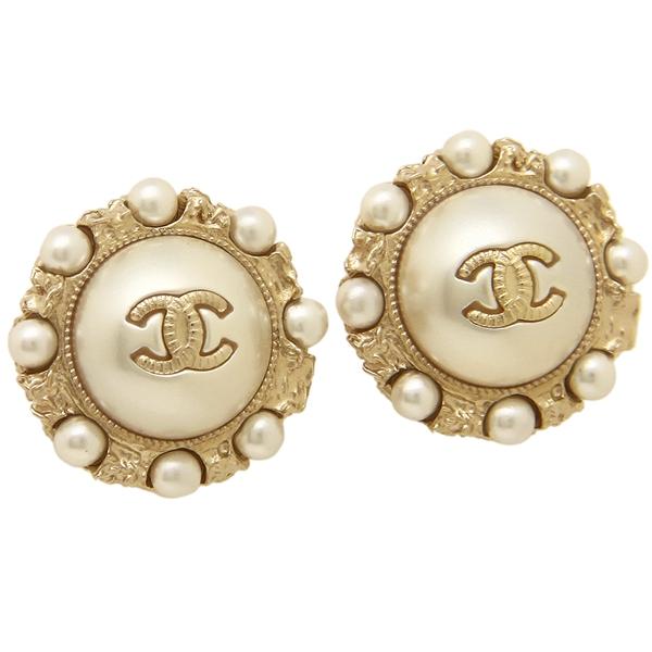 46d4b6187b195 Chanel pierced earrings accessories Lady's CHANEL A45699 Y47154 Z5766 white  gold ...