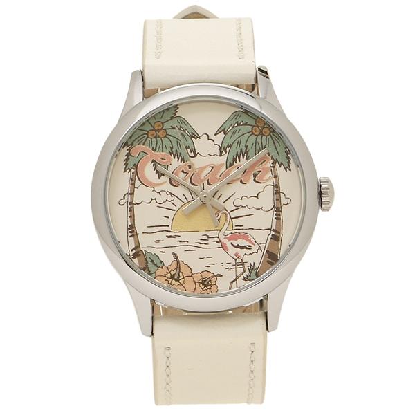 【2時間限定ポイント10倍】コーチ 腕時計 アウトレット レディース COACH W1546 NLM マルチ シルバー ホワイト