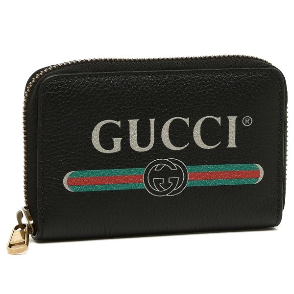 【4時間限定ポイント10倍】グッチ コインケース メンズ GUCCI 496319 0GCAT 8163 Credit Card Case ブラック