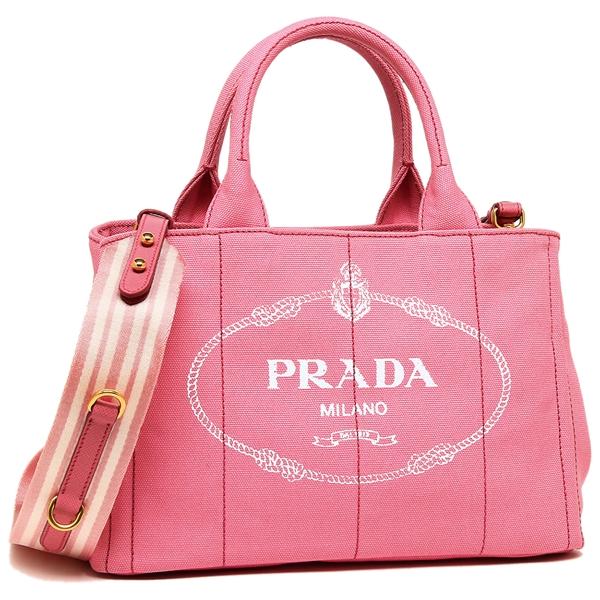 【4時間限定ポイント10倍】プラダ トートバッグ レディース PRADA 1BG439 ZKI F0HTJ ピンク ホワイト