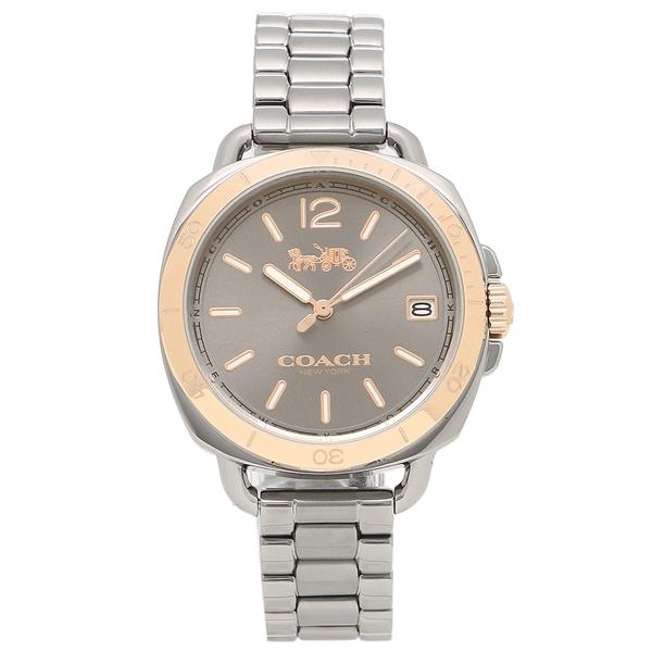 【6時間限定ポイント10倍】【返品OK】コーチ 腕時計 レディース COACH 14502597 ガンメタルグレー ローズゴールド
