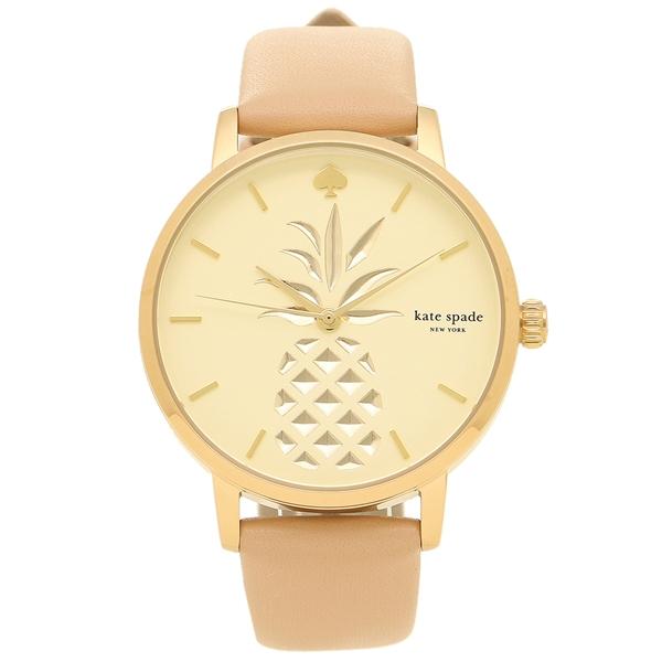 ケイトスペード KATE SPADE 腕時計 KSW1443 ピンクベージュ ゴールド クリーム