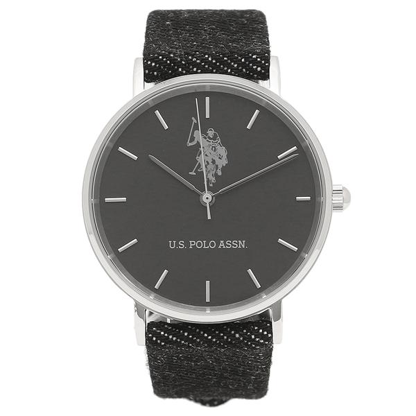 【2時間限定ポイント10倍】ユーエス ポロ 腕時計 メンズ レディース US POLO ASSN US-1D-BK ブラック シルバー