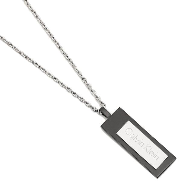 カルバンクライン ネックレス アクセサリー メンズ CALVIN KLEIN KJ7QBP280100 シルバー ブラック