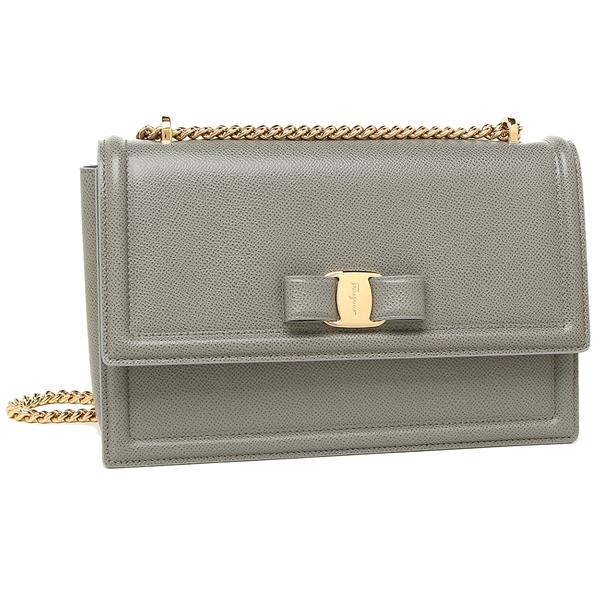 f4f5f1082f Ferragamo shoulder bag Lady s Salvatore Ferragamo 21G462 0694314 023 gray