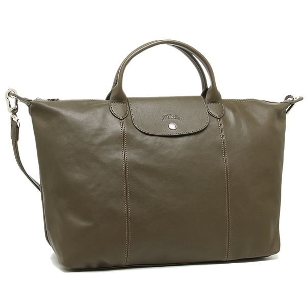 Longchamp tote bag Lady\u0027s LONGCHAMP 1630 737 292 khaki
