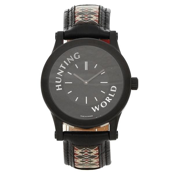 【72時間限定ポイント10倍】【返品OK】ハンティングワールド 腕時計 メンズ HUNTING WORLD HWS001BK ブラック