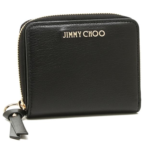 ジミーチュウ 二つ折り財布 レディース JIMMY CHOO ブラック