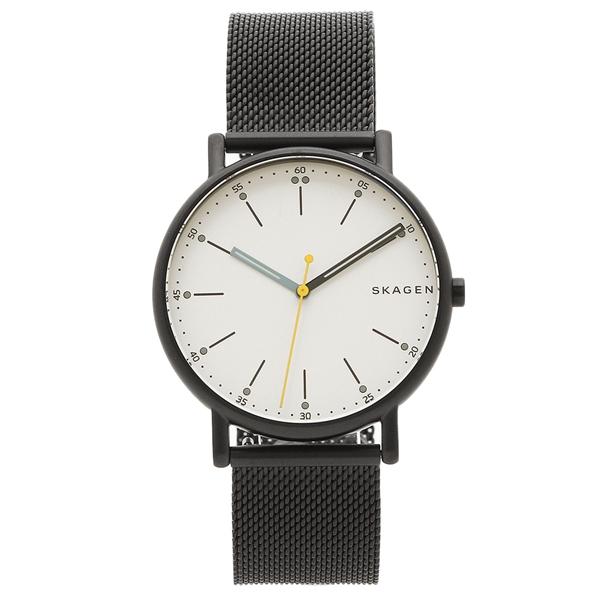 スカーゲン 腕時計 メンズ SKAGEN SKW6376 ブラック ホワイト
