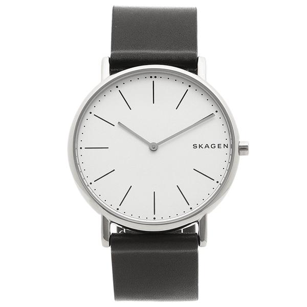 スカーゲン 腕時計 メンズ SKAGEN SKW6419 ブラック シルバー ホワイト