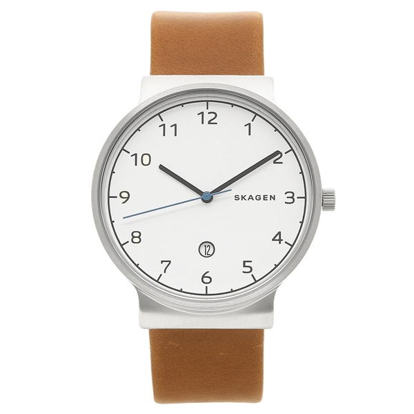 【返品OK】スカーゲン 腕時計 メンズ SKAGEN SKW6433 ブラウン シルバー ホワイト