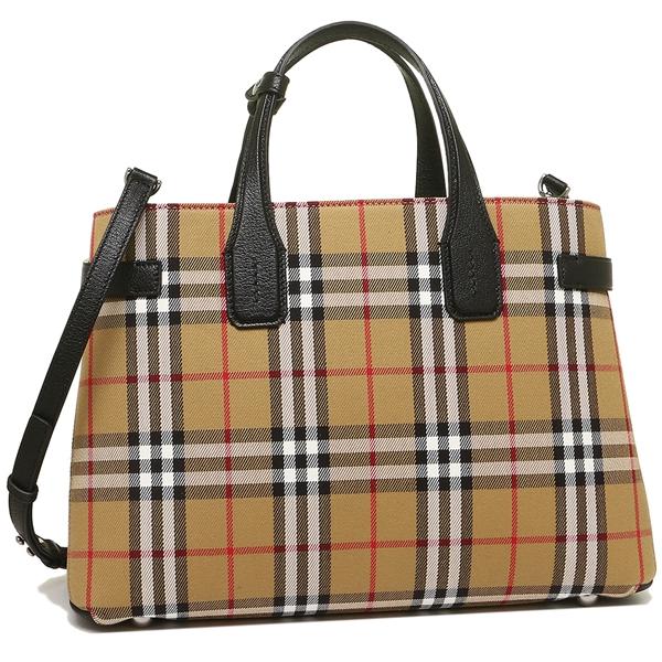 40c2cf46f5a Burberry tote bag shoulder bag Lady's BURBERRY 4076953 00100 black beige ...