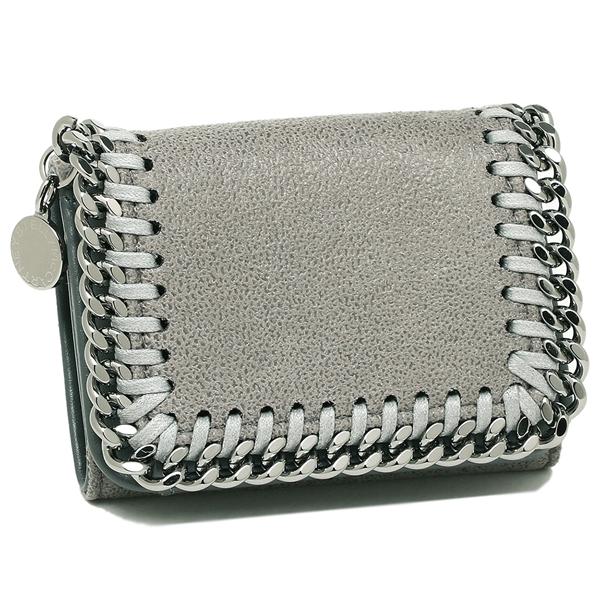 ステラマッカートニー 三つ折り財布 レディース STELLA McCARTNEY 521371 W9132 1220 グレー シルバー
