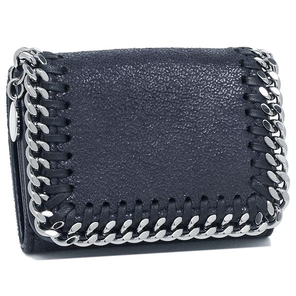 ステラマッカートニー 三つ折り財布 レディース STELLA McCARTNEY 521371 W9132 4061 ネイビー シルバー
