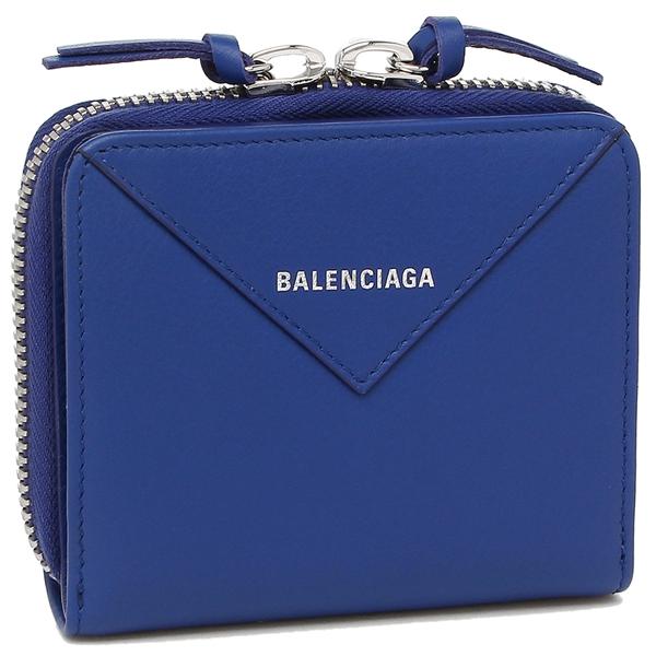 【2時間限定ポイント10倍】バレンシアガ 折財布 レディース BALENCIAGA 371662 DLQ0N 4130 ブルー