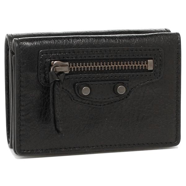 【2時間限定ポイント10倍】バレンシアガ 折財布 レディース BALENCIAGA 477455 D940T 1000 ブラック