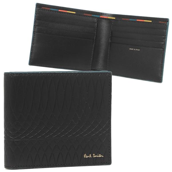 ポールスミス 折財布 メンズ PAUL SMITH 4706-A40006 79 ブラック マルチカラー