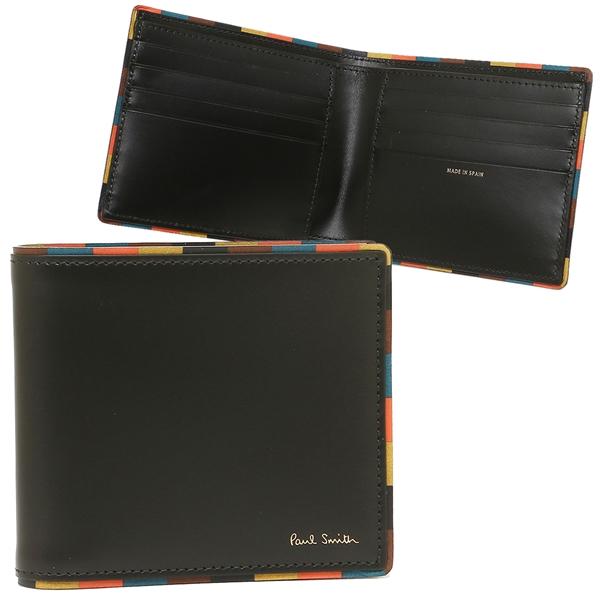 ポールスミス 折財布 メンズ PAUL SMITH 4832-AEDGE 79 ブラック マルチカラー