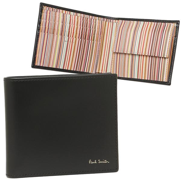 ポールスミス 折財布 メンズ PAUL SMITH 4833-AMULTI 79 ブラック マルチカラー