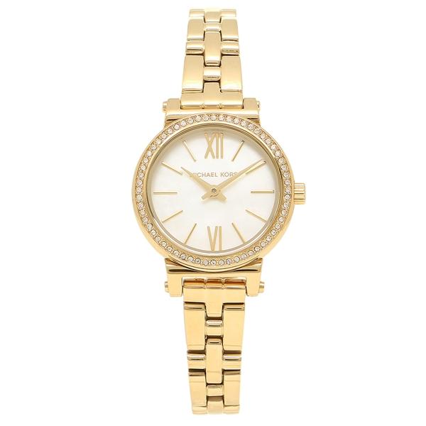 【返品OK】マイケルコース 腕時計 レディース MICHAEL KORS MK3833 イエローゴールド パール