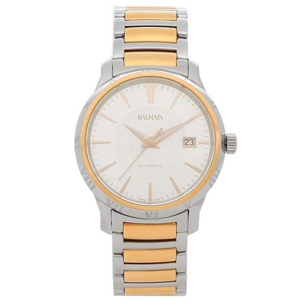 【72時間限定ポイント10倍】【返品OK】バルマン 腕時計 自動巻き メンズ BALMAIN B1548.33.26 ピンクゴールド シルバー