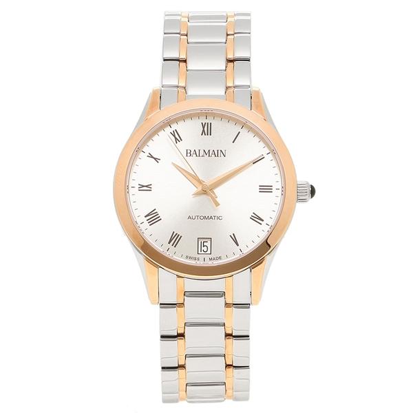 バルマン 腕時計 自動巻き レディース BALMAIN B4458.33.22 ピンクゴールド シルバー