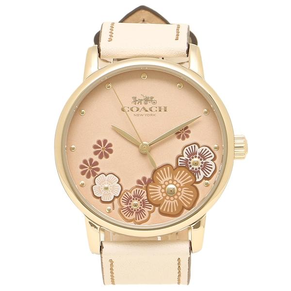コーチ 腕時計 レディース COACH 14503008 イエローゴールド アイボリー