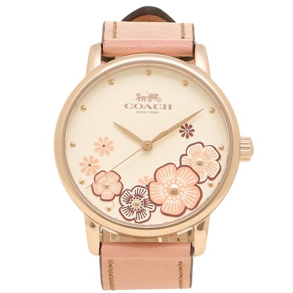 【返品OK】コーチ 腕時計 レディース COACH 14503009 イエローゴールド ホワイト ピンク