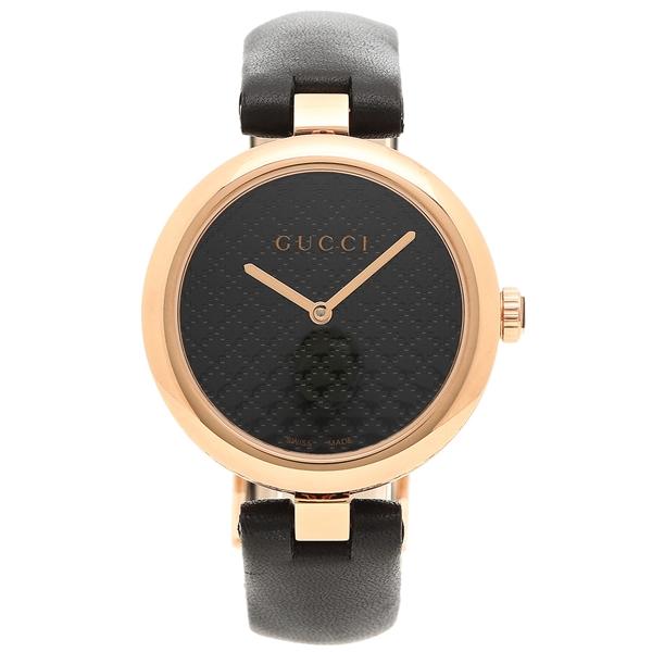 【4時間限定ポイント5倍】グッチ 腕時計 レディース GUCCI YA141401 ブラック ローズゴールド