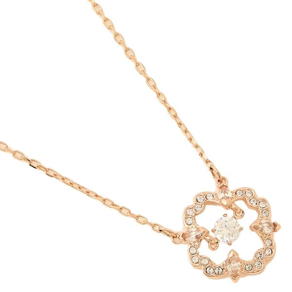 SWAROVSKI 施华洛世奇项链 跳动的心镂空黑天鹅项链饰品 花朵玫瑰金色5408437