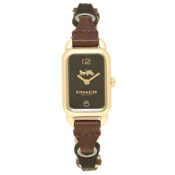 コーチ 腕時計 レディース COACH 14502962 ブラック イエローゴールド ブラウン