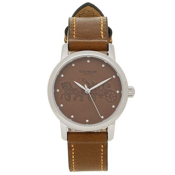 レディース シルバー 14502978 コーチ 腕時計 ブラウン COACH
