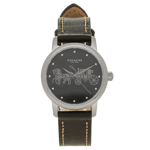 【24時間限定ポイント5倍】コーチ 腕時計 レディース COACH 14502979 シルバー ブラック